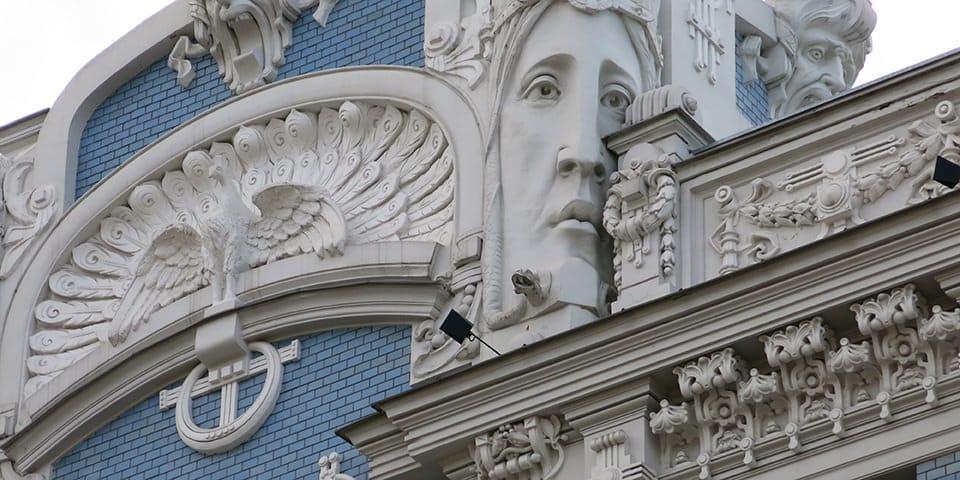 Riga byder på et væld af smukke bygninger i jugendstil.