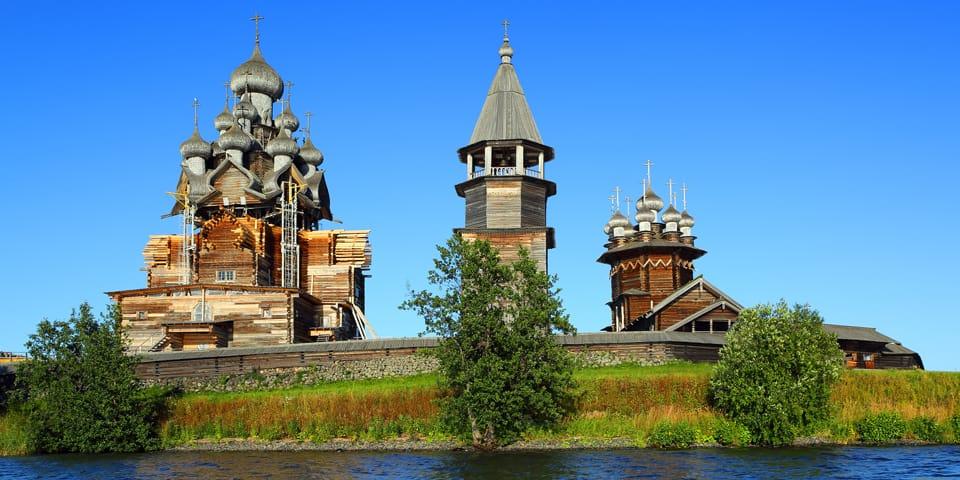 Trækirke i Kizhi - Moskva - Skt. Petersborg