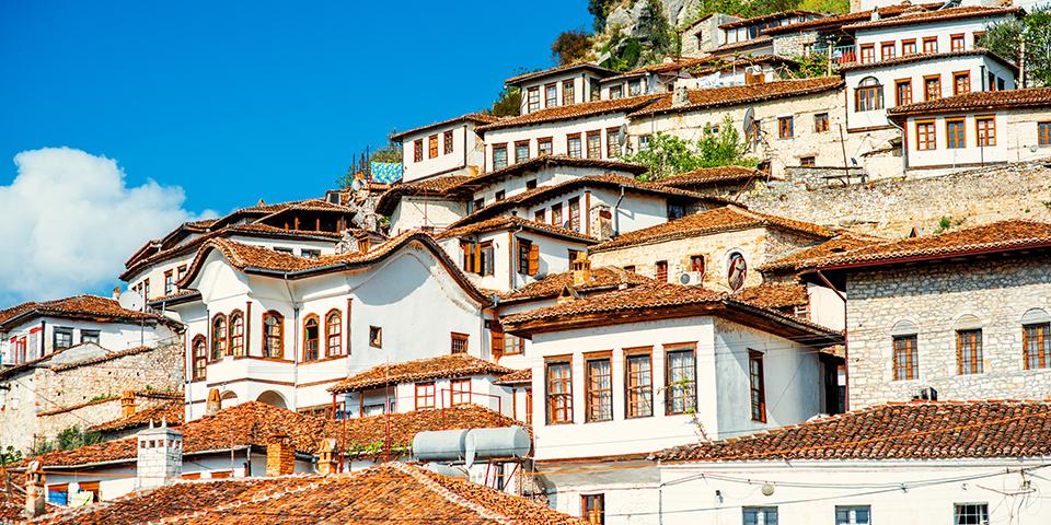 De karakteristiske huse i Berat.