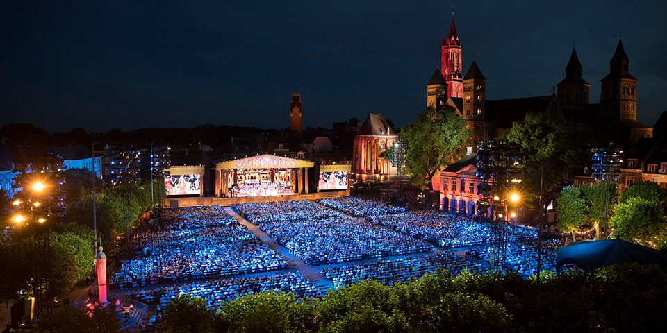 Til André Rieu-koncert i Maastrich.