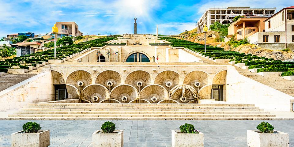 Kunstmuseet Cascade i Jerevan.