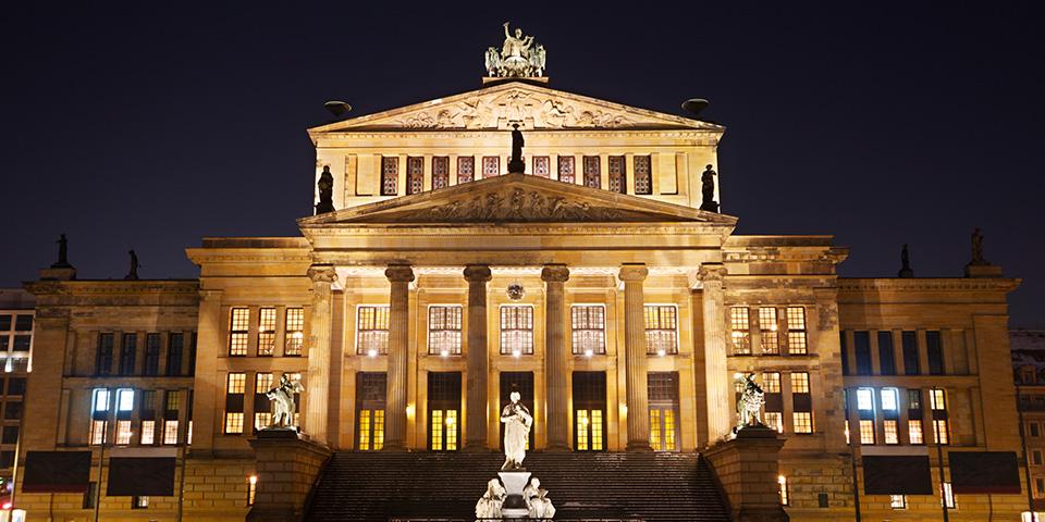 Konzerthaus Berlin på Gendarmenmarkt.