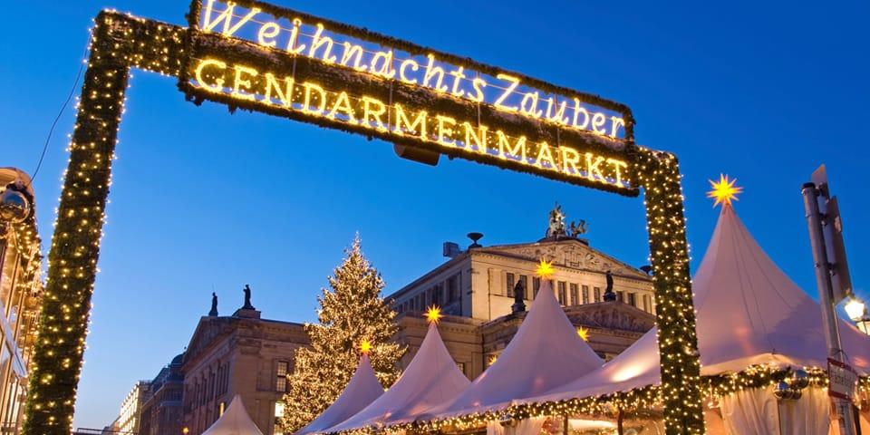 Det populære julemarked på Gendarmenmarkt.