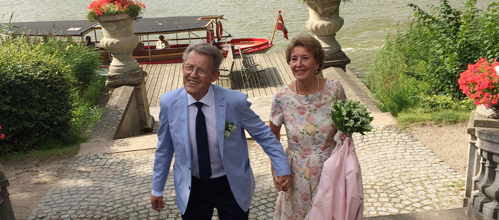 Mogens og Marianne på deres bryllupsdag
