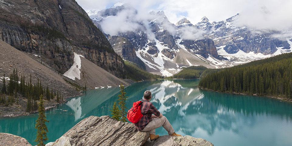 Den fantastiske udsigt over Emerald Lake.