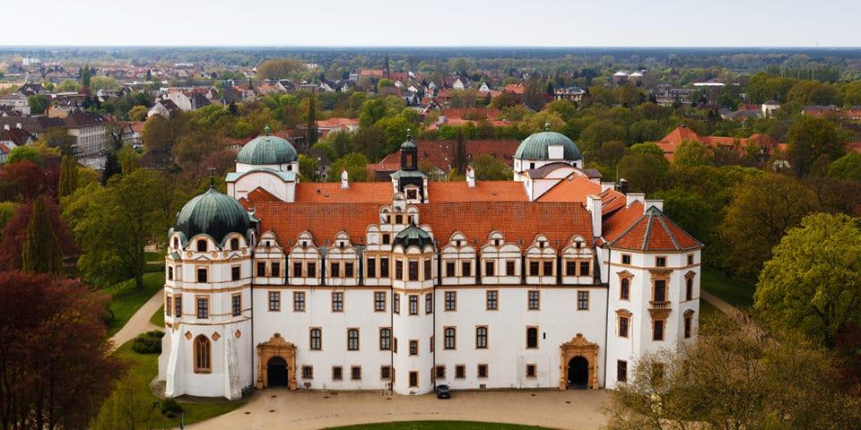 Slottet i Celle, hvor dronning Caroline Mathilde endte sine dage.