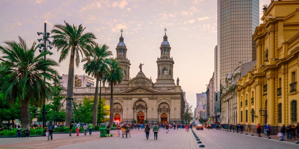 Plaza de las Armas i Santiago de Chile.