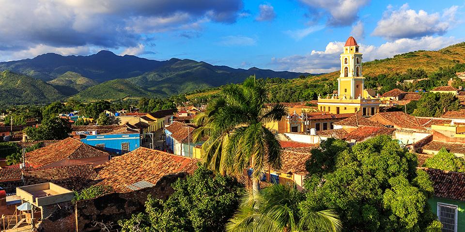 Udsigt over charmerende og frodige Trinidad.