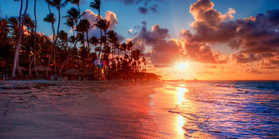 Solen går ned i Varadero.