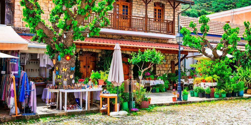 Lille butik i Omodos på Cypern.