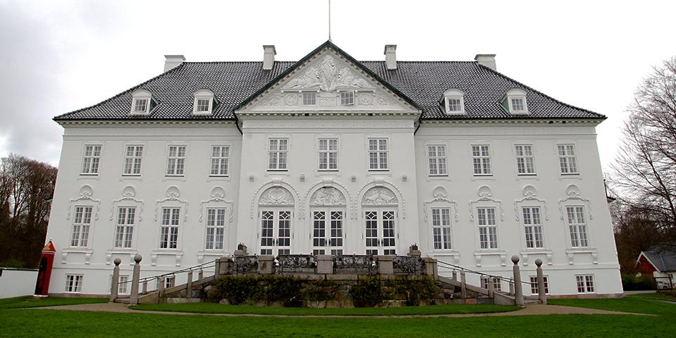 Dronning Margrethes sommerresidens Marselisborg.