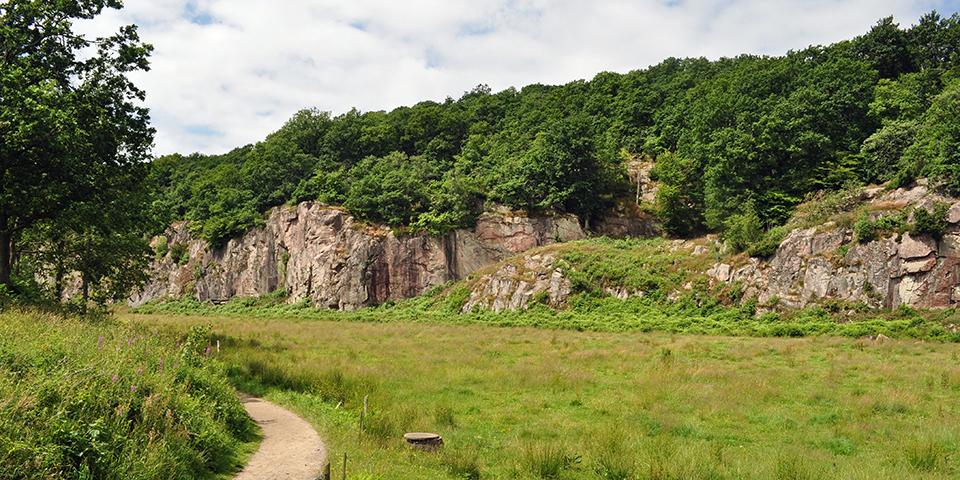 Den berømte Ekkodal på Bornholm.
