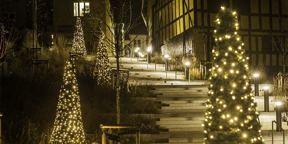 Julestemningen breder sig i Svendborg med den fine julebelysning.