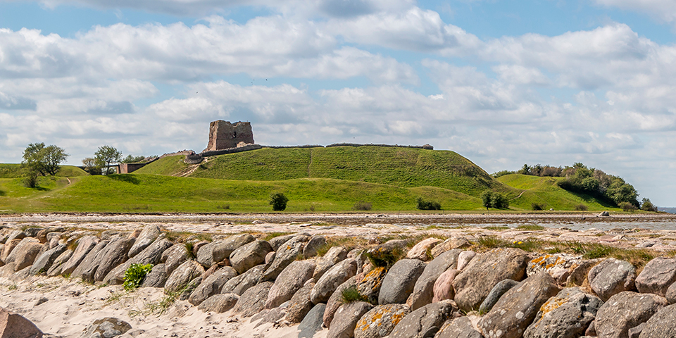 Kig til Kalø Slotsruin.