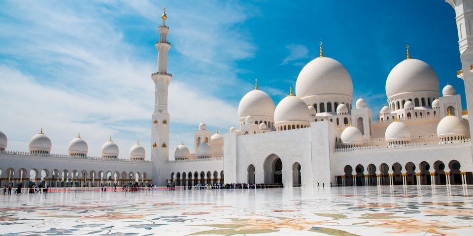 Den imponerende moské Sheikh Zayed.