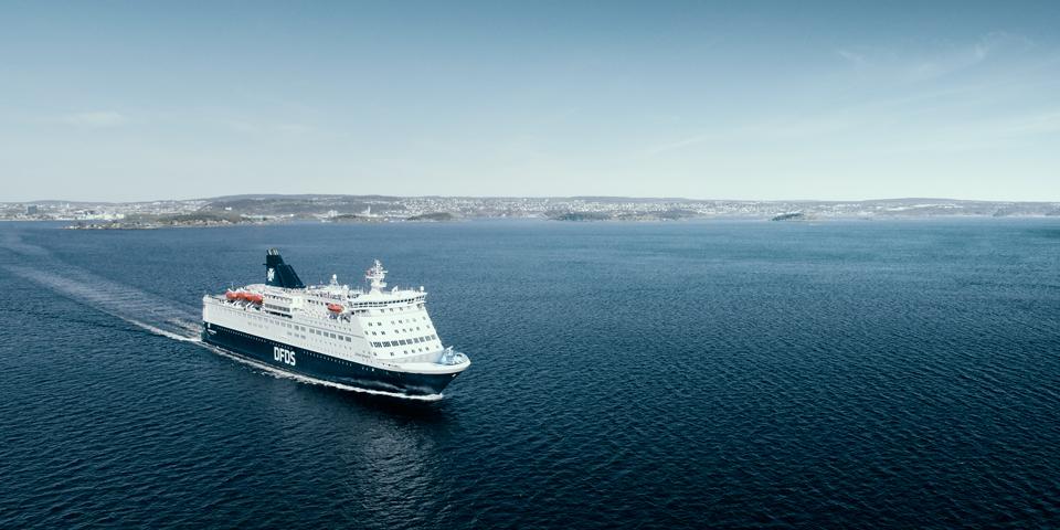 DFDS Crown Seaways på vej til Norge.