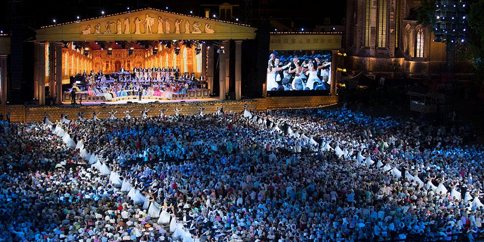 Koncert med Andre Rieu i Maastricht.