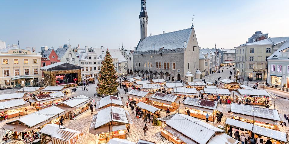 Julemarked på Rådhustorvet.