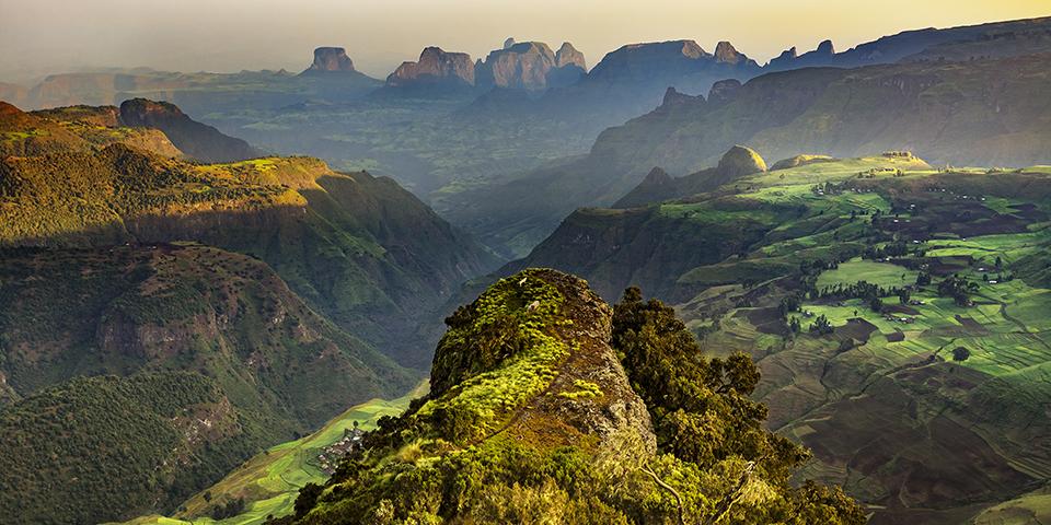 Smuk udsigt over Semien Nationalpark.