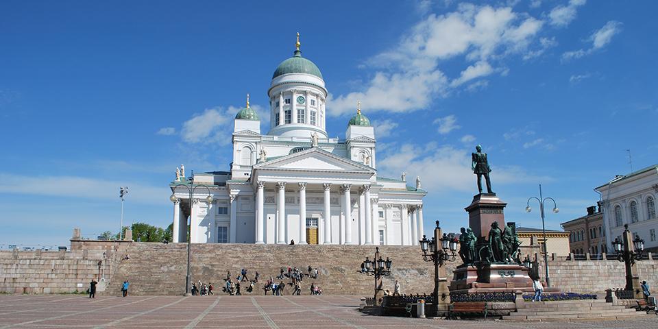Den flotte katedral i Finlands hovedstad Helsinki.