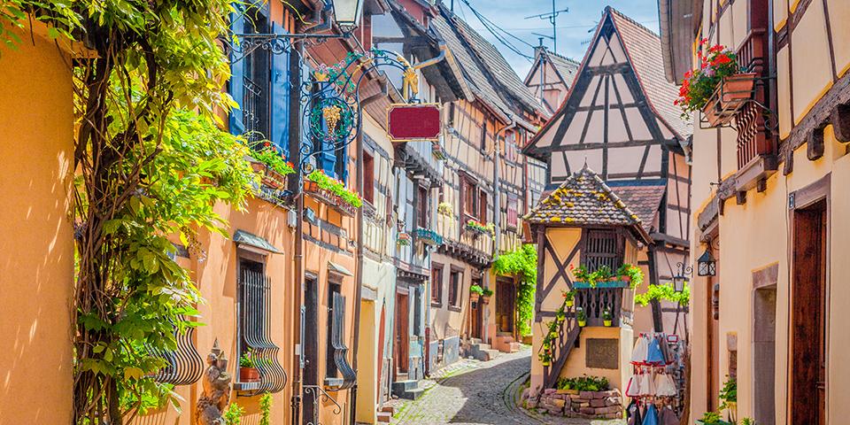 Eguisheim byder på ren bindingsværksidyl.