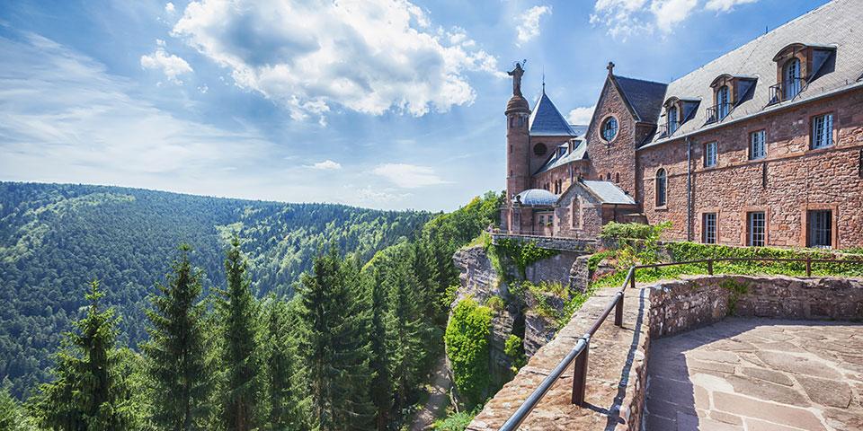 Klostret Mont Saint-Odile.