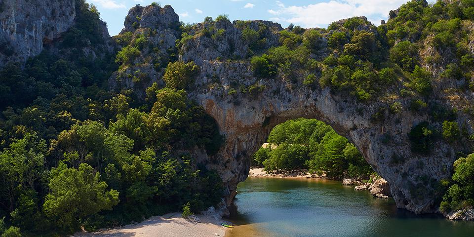 Naturbroen Pont d'arc over Ardéche.