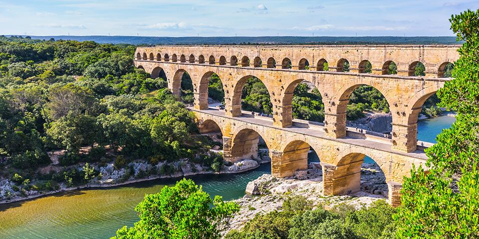 Den imponerende bro Pont du Gard.