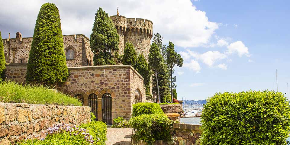 Slottet i Mandelieu-la-Napoule.
