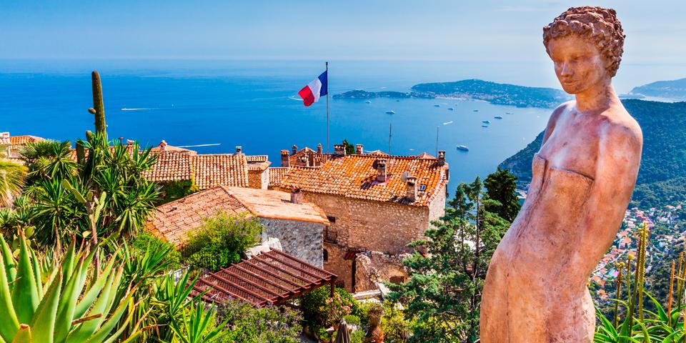 Middelalderbyen Èze på Den Franske Riviera.
