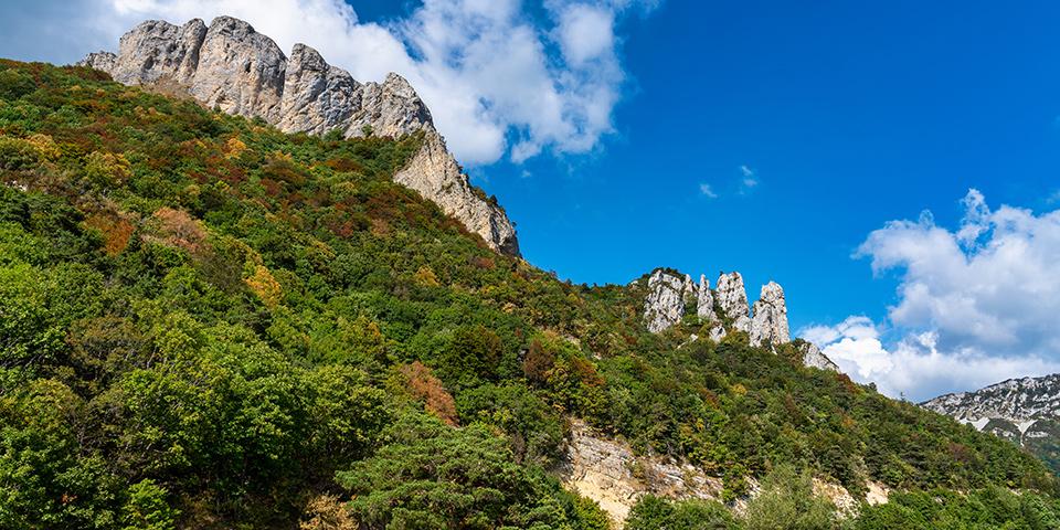 Bjergområdet Vercors Massif byder på imponerende udsigter.