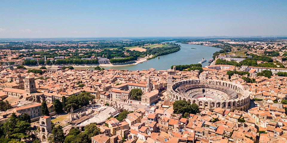 Udsigt over Arles.