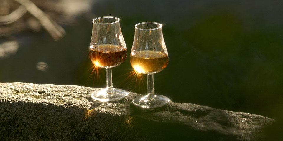 Calvados-smagning.