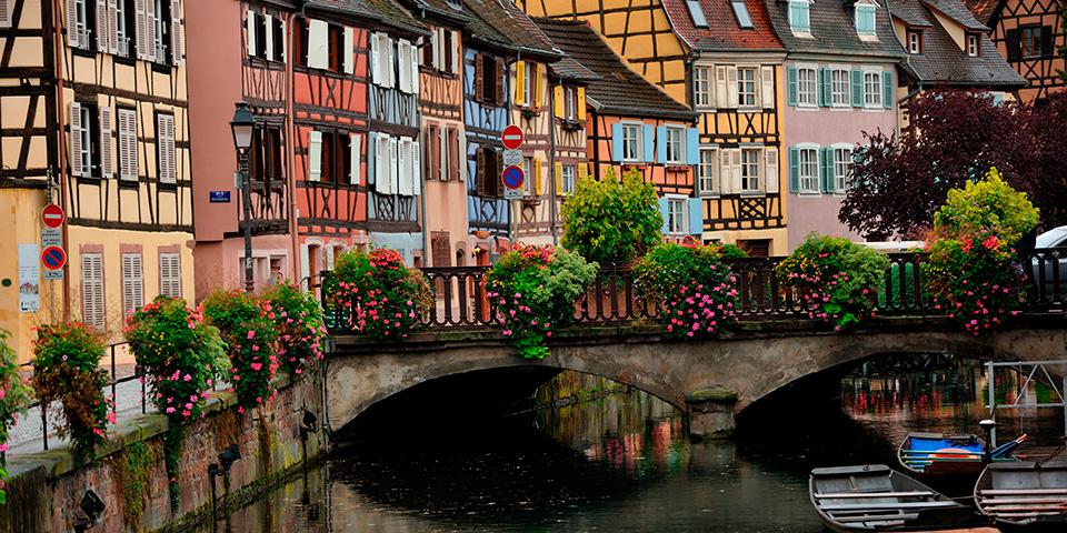 Farverige Colmar i Alsace.