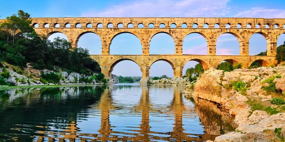 Den imponerende viadukt Pont du Gard.