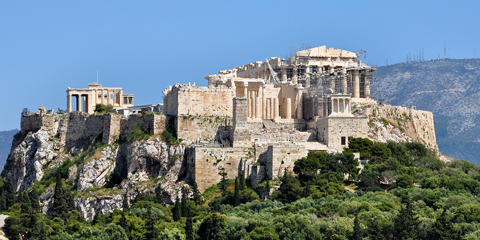 Dagens højdepunkt – Akropolis.