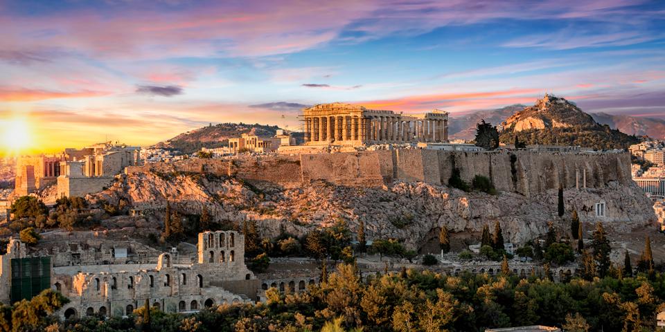 Det berømte Akropolis i Athen.