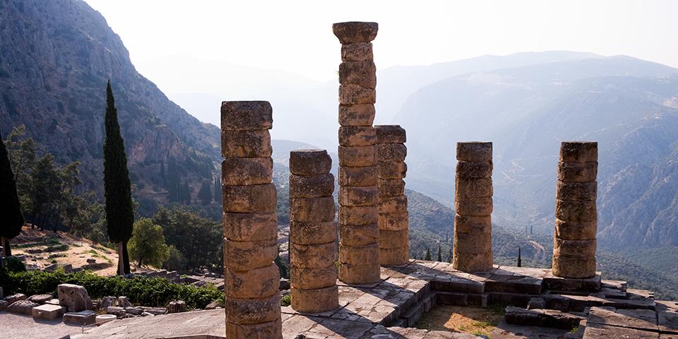Apollontemplet i Delfi.