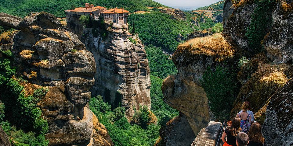 De berømte Meteora-klostre.