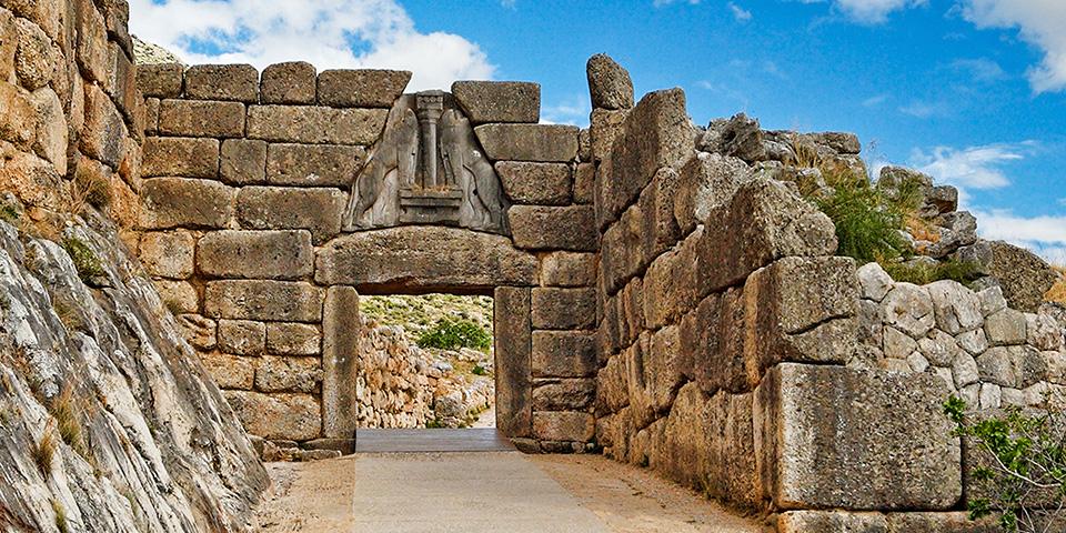 Løveporten, der var indgangen til det antikke Mykene.