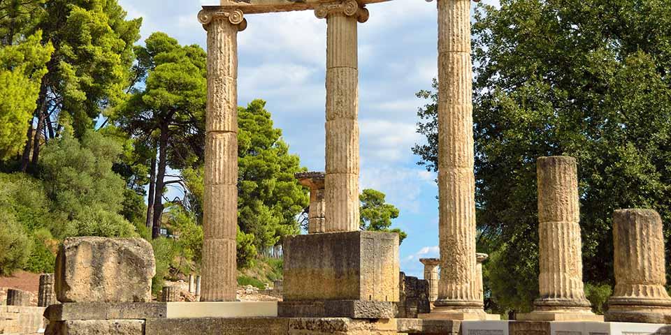 Olympia, hvor den olympiske ild tændes.