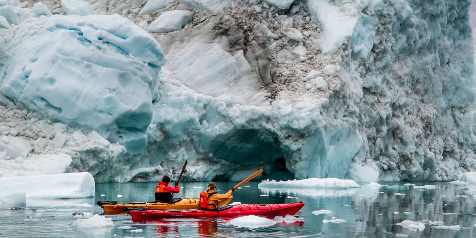Kajakroere i Grønland.