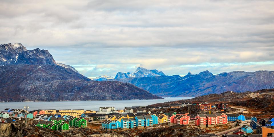Grønlands hovedstad Nuuk.