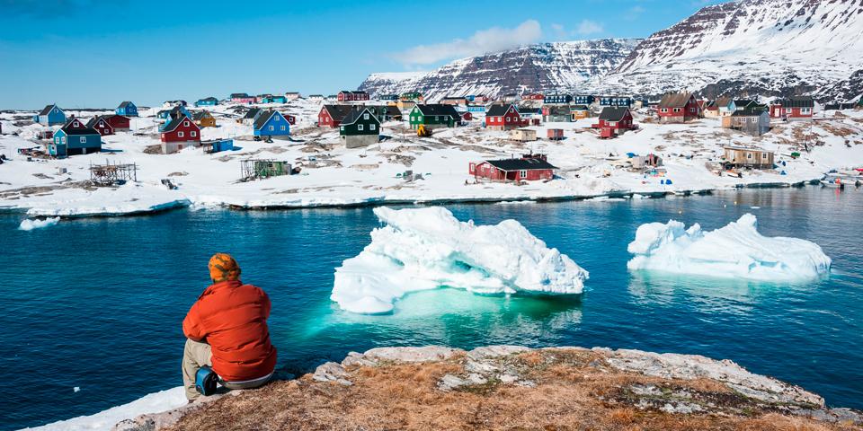 Qeqertarsuaq, Den store ø, er Grønlands største ø.