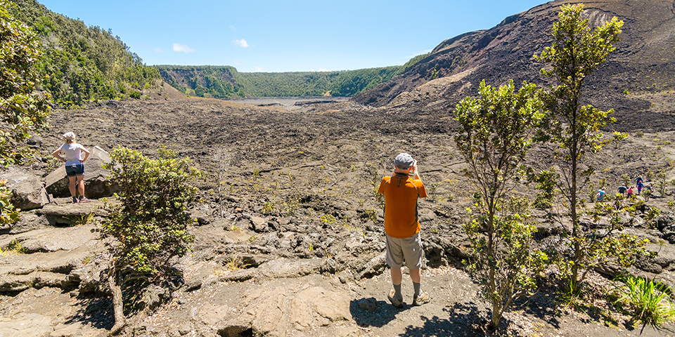 Vulkankrater på Hawaii (Big Island)