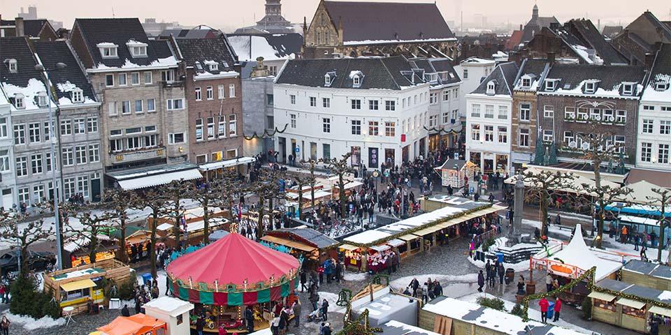 Julemarkedet i Maastricht, hvor der er mulighed, for at gøre de sidste indkøb.
