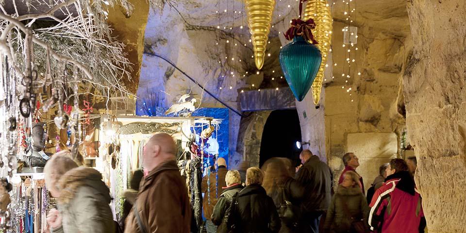 Det helt unikke julemarked i grotten i Valkenburg.
