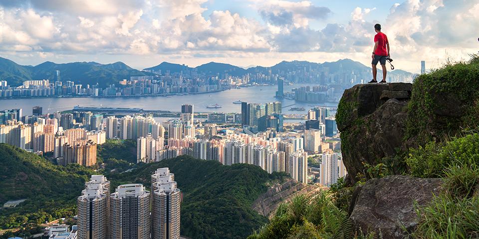 Udsigt over Hong Kong.
