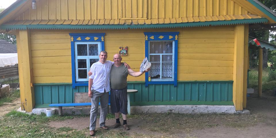 Besøg på Datcha på vejen til Minsk.