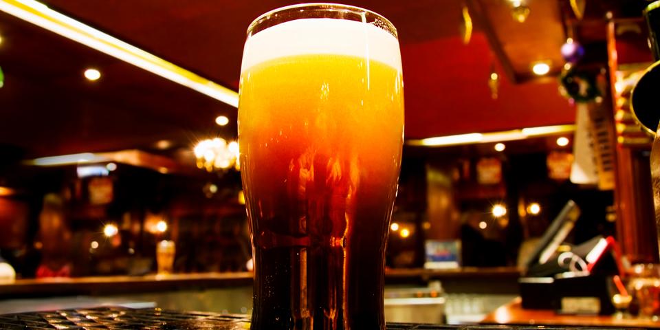 Velskænket øl i Dublin.